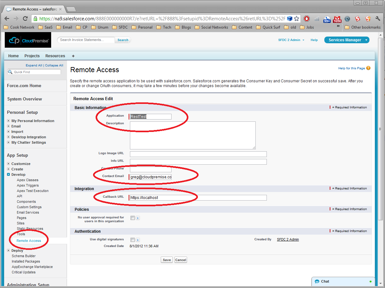 Salesforce com APEX REST + oAuth | The Enterprise Force com